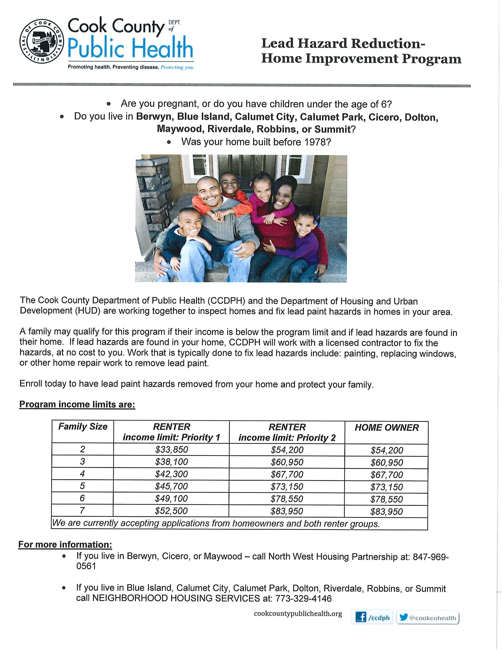 Cook County Lead home improvement program Flyer