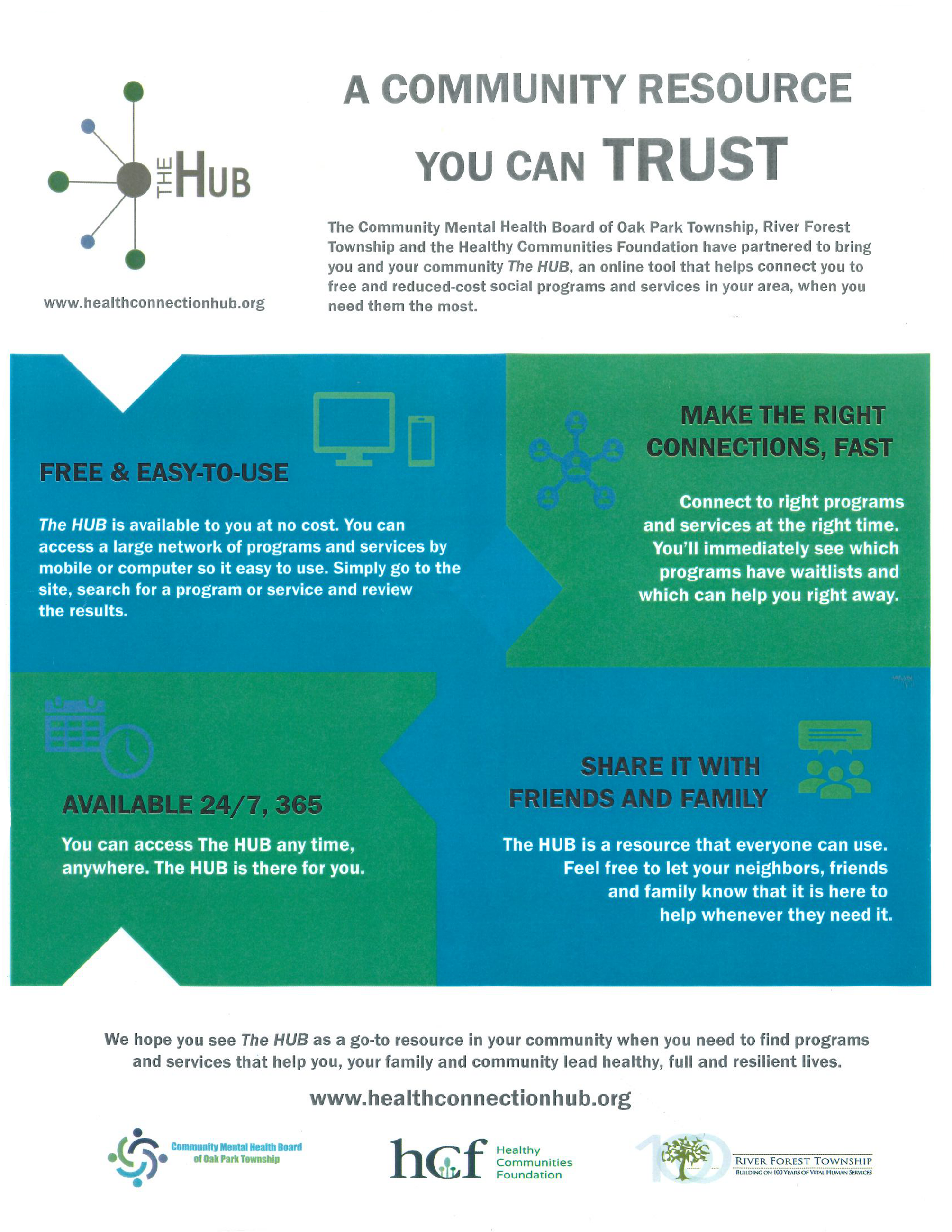 Health Connection Hub Flyer