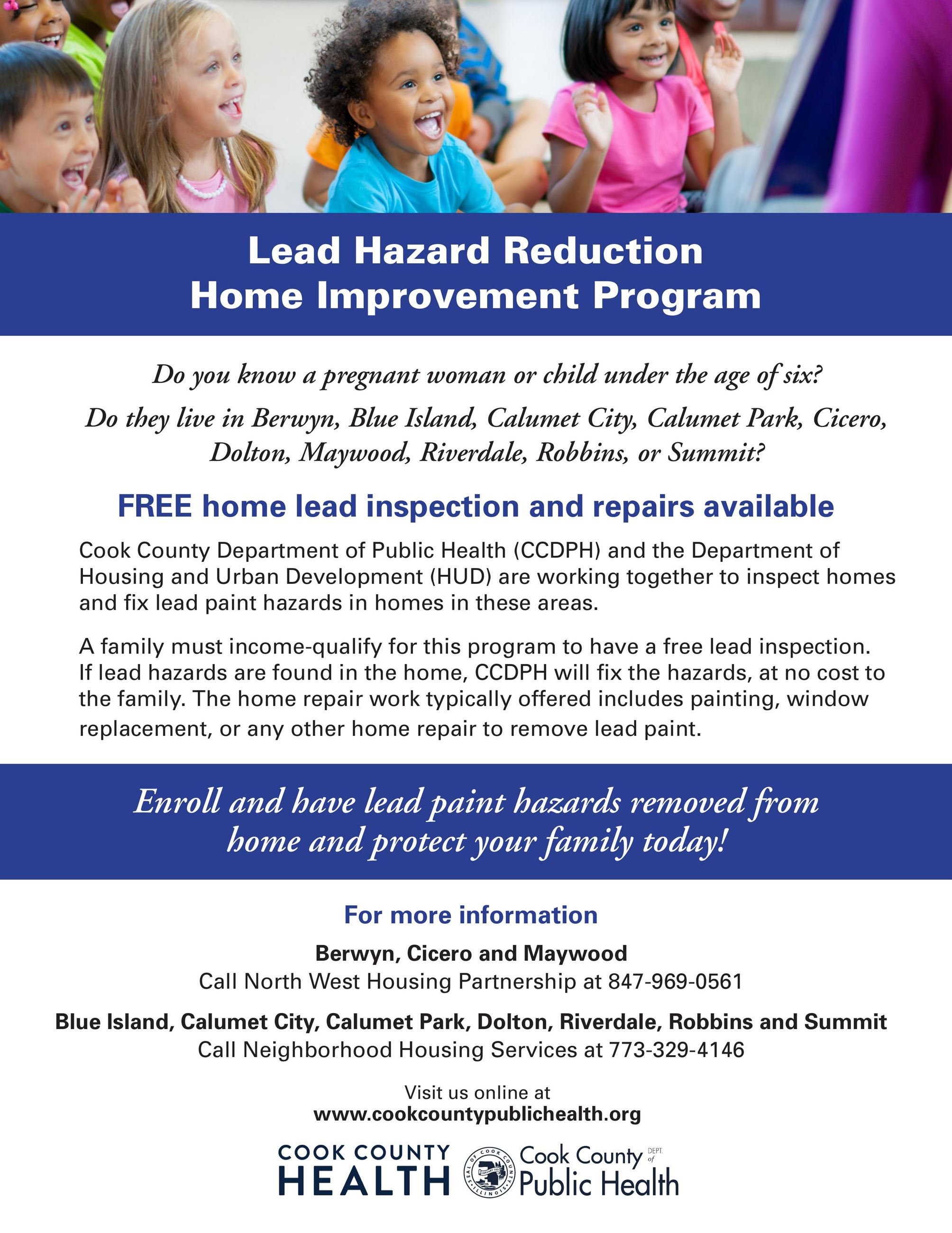 Cook County Public Health Lead Reduction Flyer