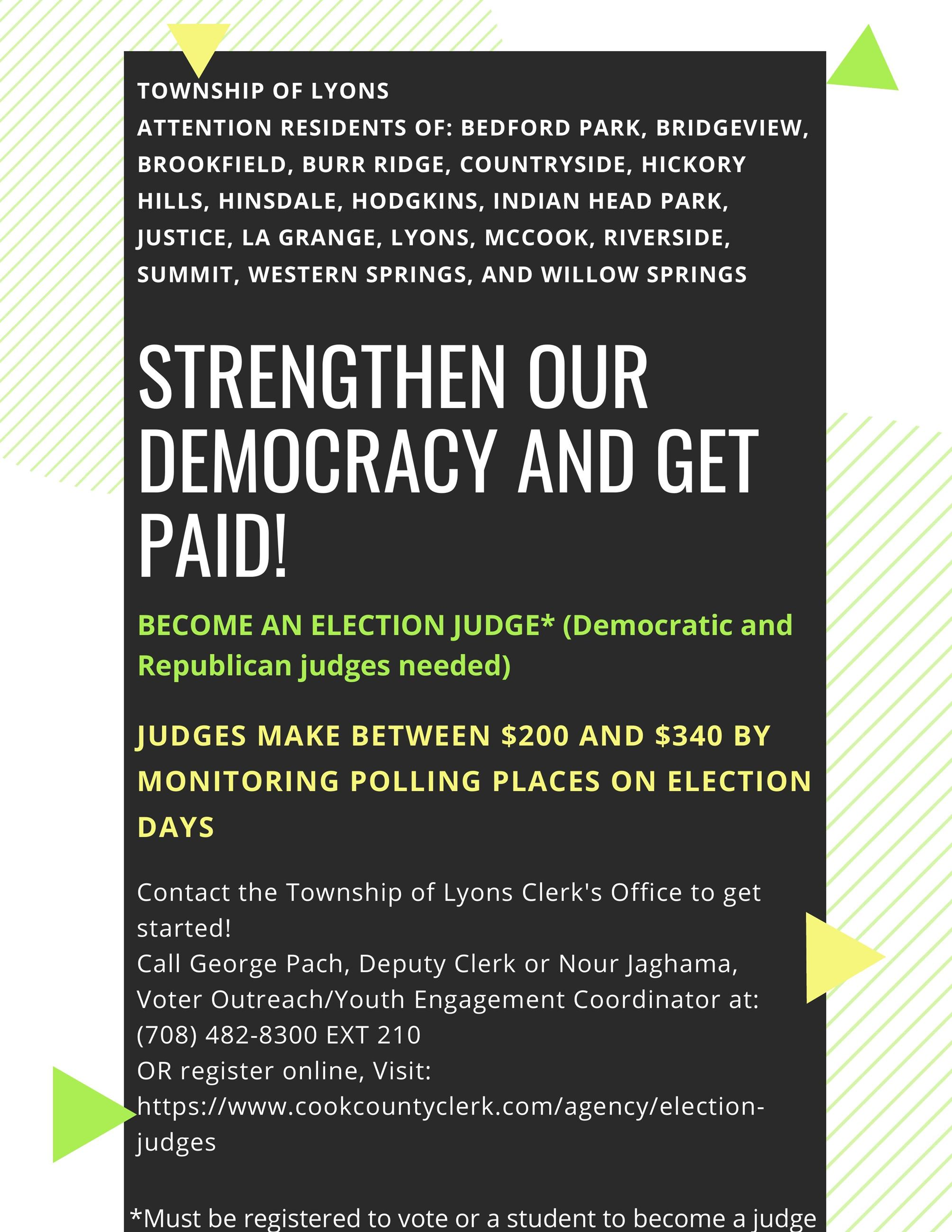 Election Judge Flyer