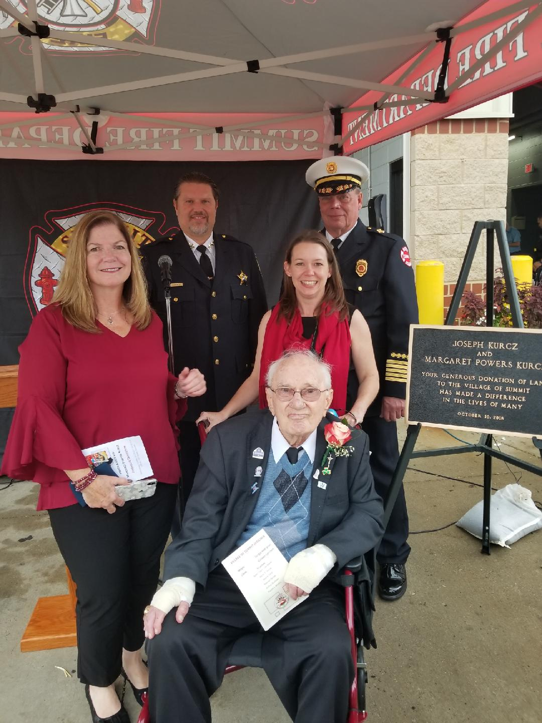 Summit Police and Fire Chiefs and Joseph Kurcz and family