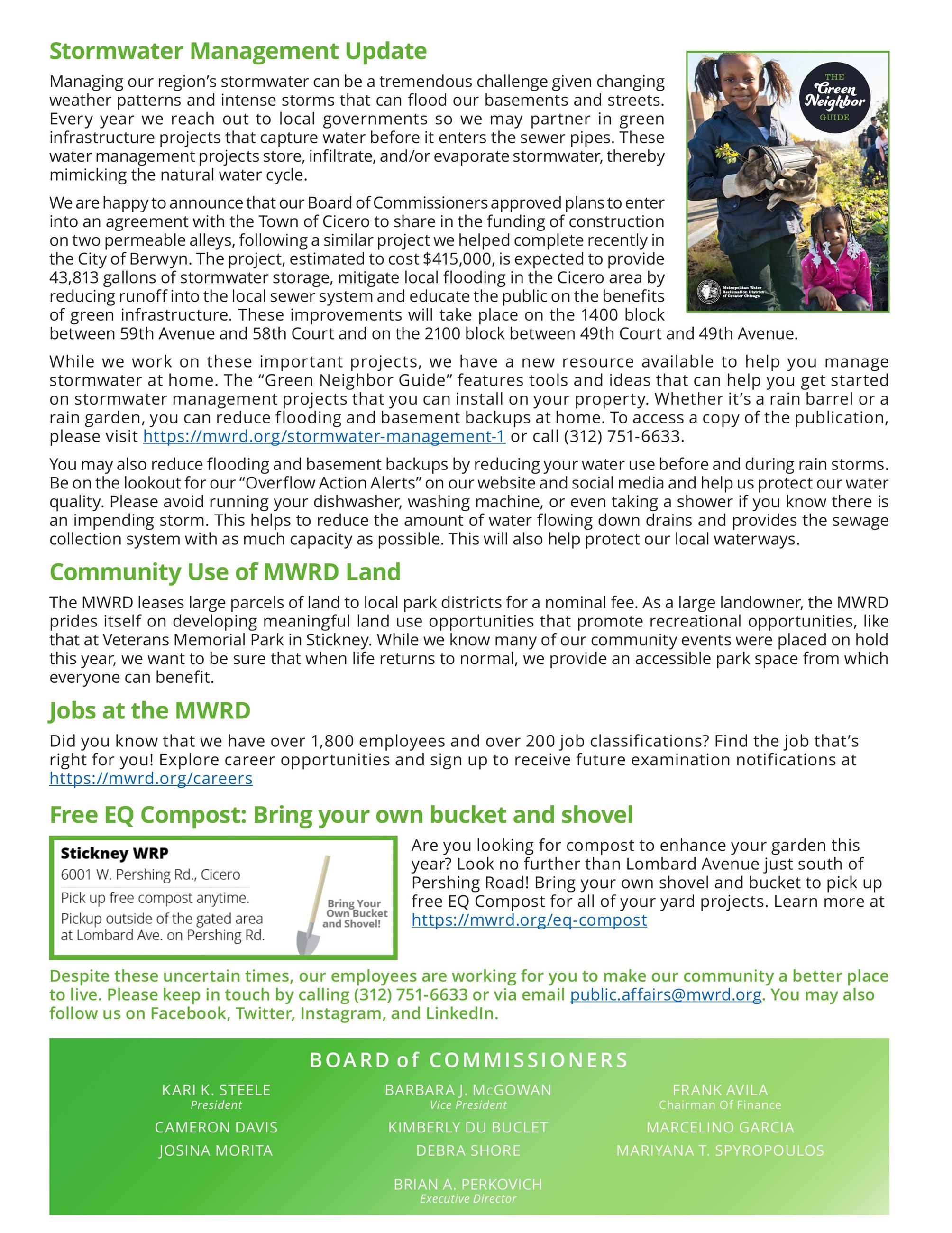 MWRD Neighborhood Newsletter English page 2
